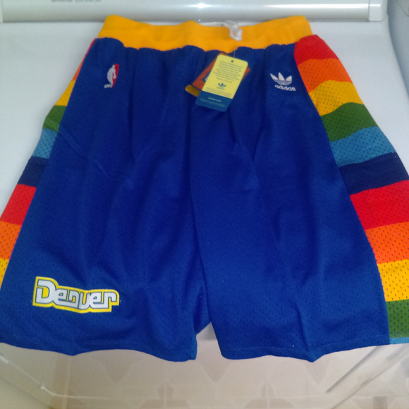8cd9824d6a6 adidas Shorts | Denver Nuggets Rainbow Skyline Blue | Poshmark